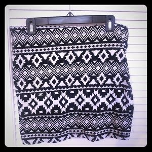 Divided by H&M Tribal Body Con mini skirt